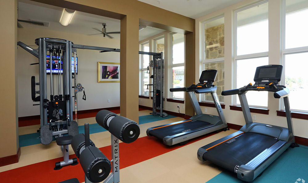 Fully equipped fitness center at 4000 Hulen Urban Apartment Homes