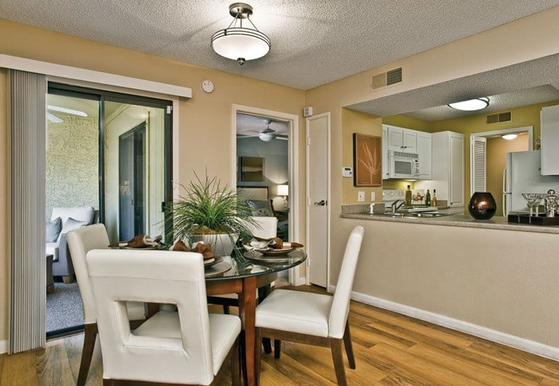 Dinning room at apartments in Phoenix, Arizona