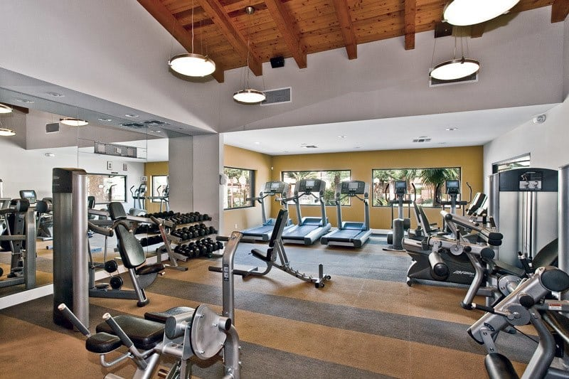 Modern fitness center at Greenspoint at Paradise Valley in Phoenix, Arizona