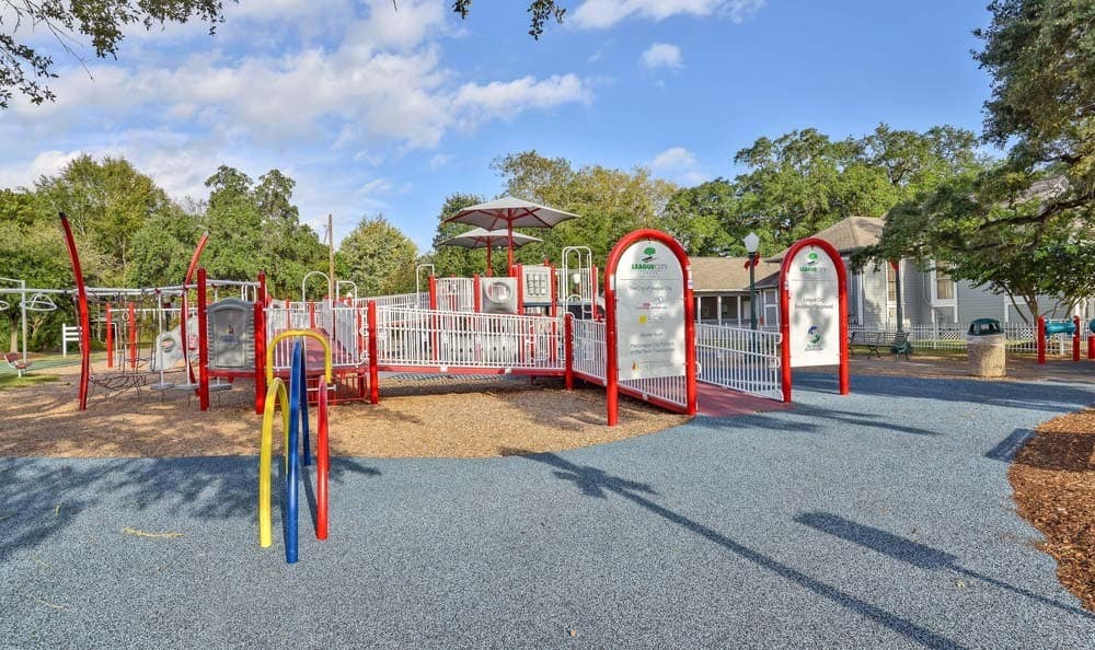 A playground that is great for entertaining at apartments in League City, Texas