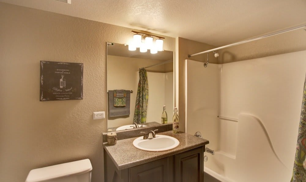 Efficiently spaced bathroom layout in a Starrview at Starr Pass home
