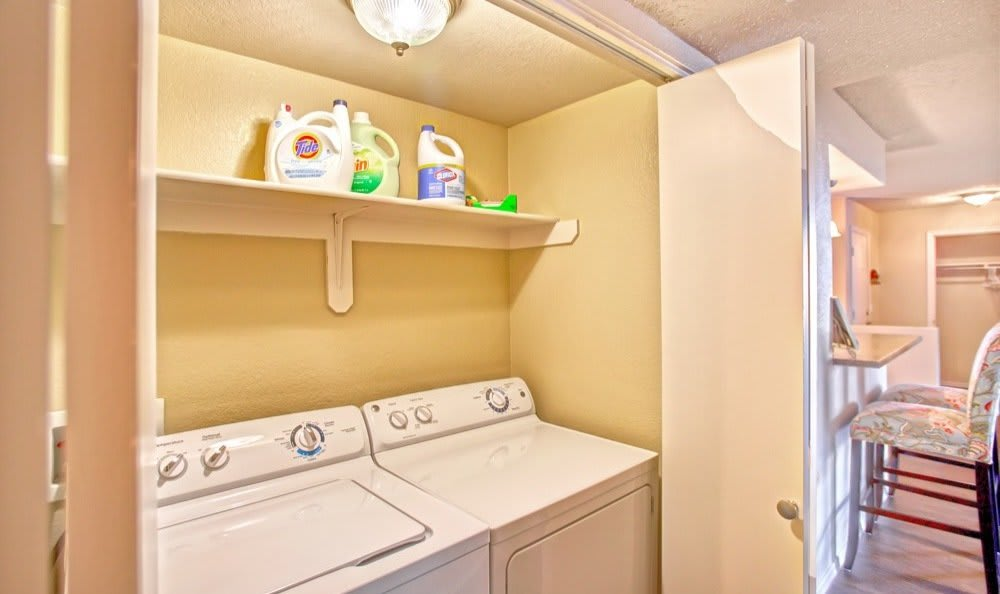 In-home washer and dryer available in select homes at Starrview at Starr Pass
