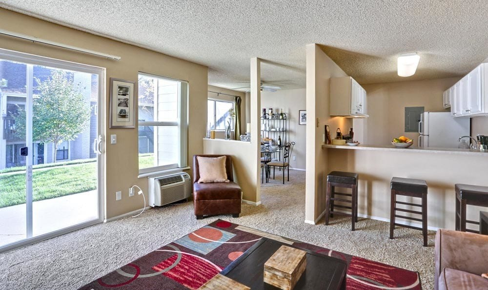 Enjoy a luxury living room at The Knolls at Sweetgrass Apartment Homes