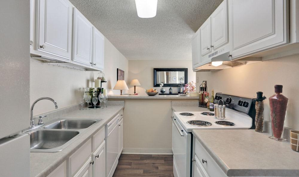 Beautiful kitchen at The Knolls at Sweetgrass Apartment Homes in Colorado Springs, Colorado