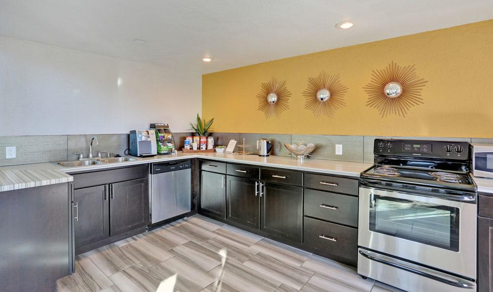 Modern kitchen at apartments in Colorado Springs, Colorado