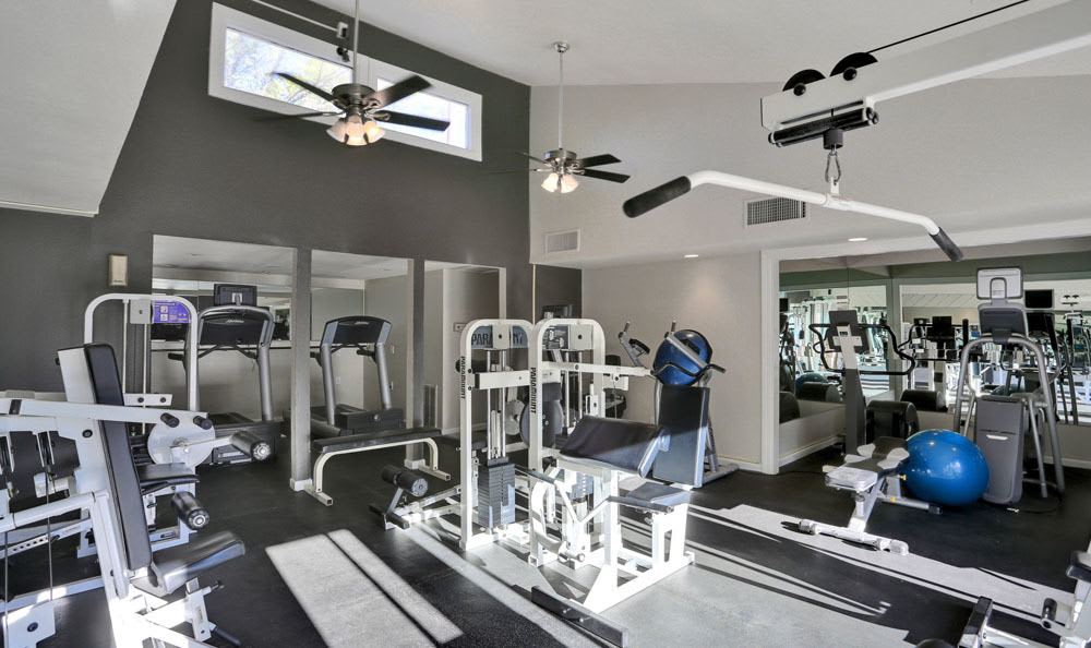 Modern fitness center at apartments in Colorado Springs, Colorado