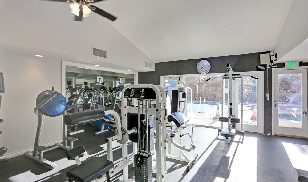 The Knolls at Sweetgrass Apartment Homes offers a modern fitness center in Colorado Springs, Colorado