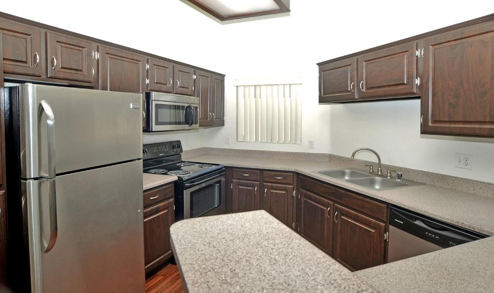 Beautiful kitchen at apartments in Rio Rancho, New Mexico