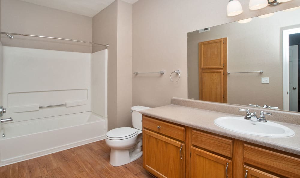 Bathroom at apartments in Albuquerque, New Mexico