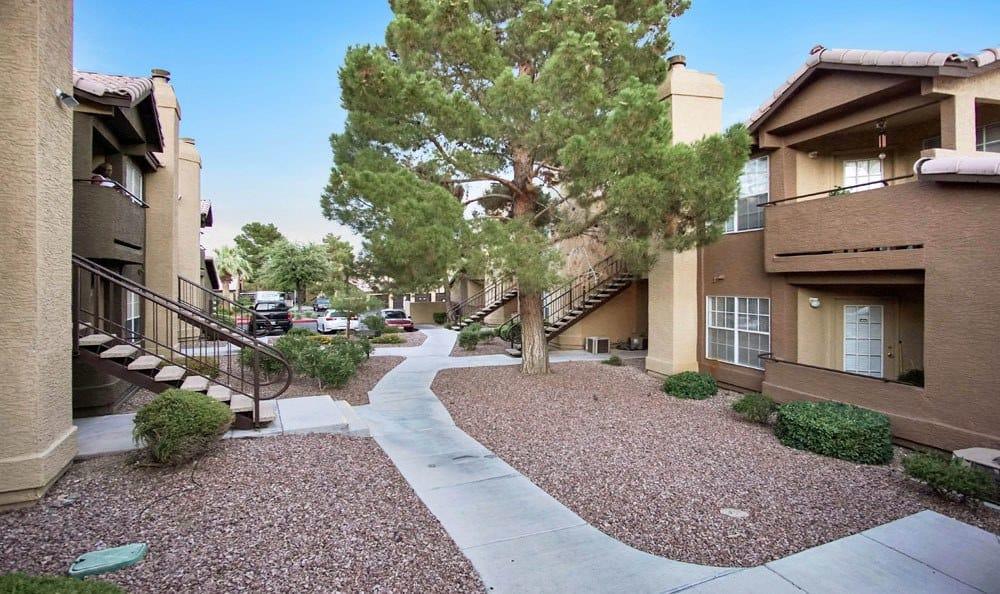 Exterior apartments at Village at Desert Lakes in Nevada
