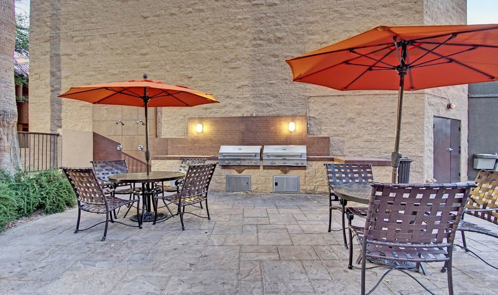 A bbq area that is great for entertaining at apartments in Las Vegas, Nevada