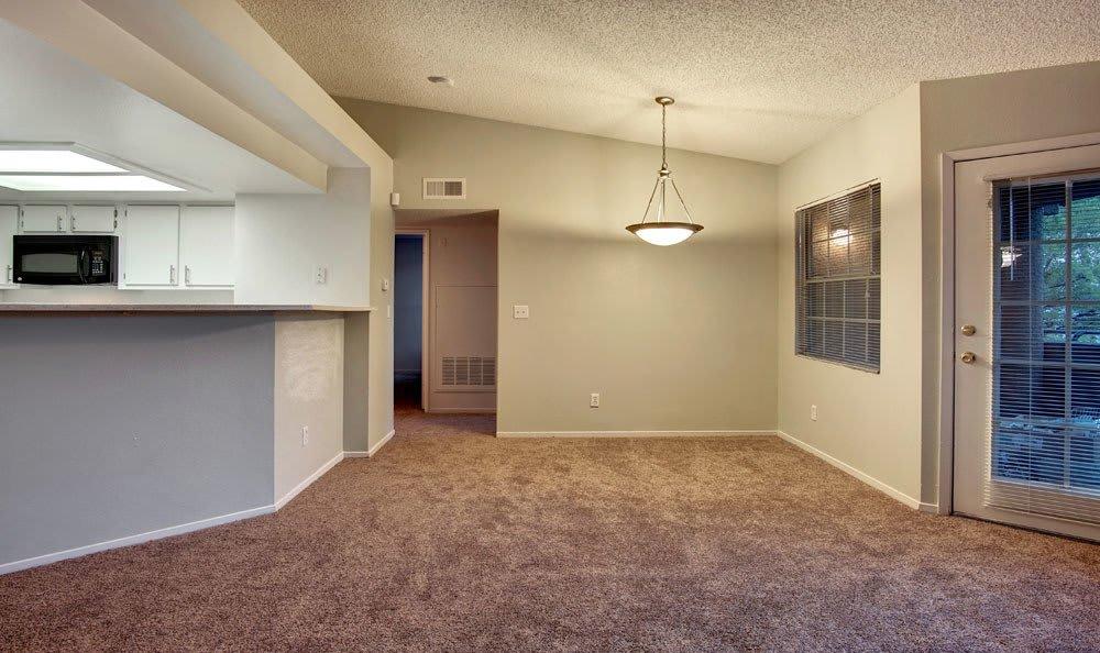 Spacious living room at apartments in Las Vegas, Nevada