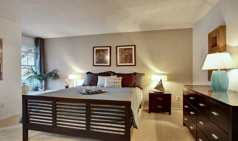 Beautiful bedroom at Village at Desert Lakes
