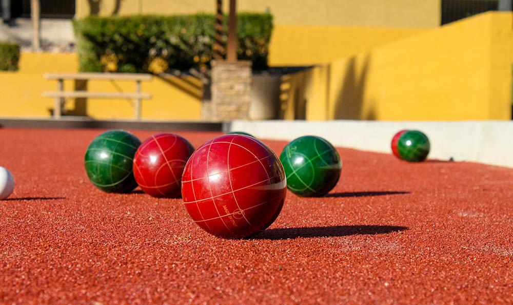 Play Bocce Ball at Arches at Oracle Apartments in Tucson, AZ