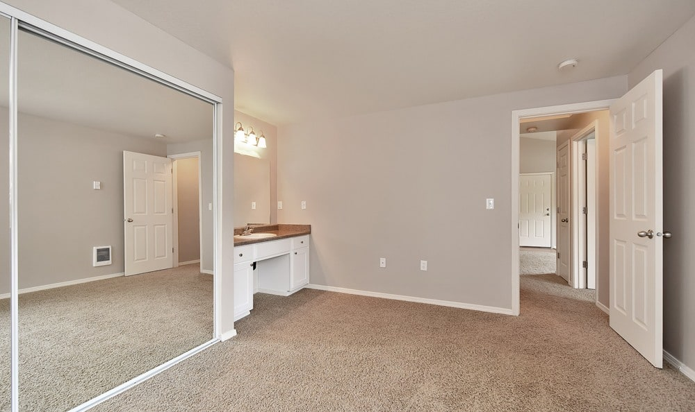 Spacious bedroom at apartments in Tigard, Oregon
