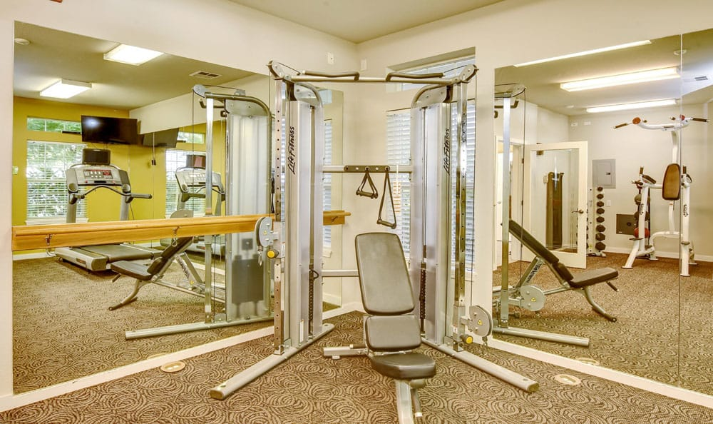 Exercise facility at Brittany Lane Apartments in Lacey, WA