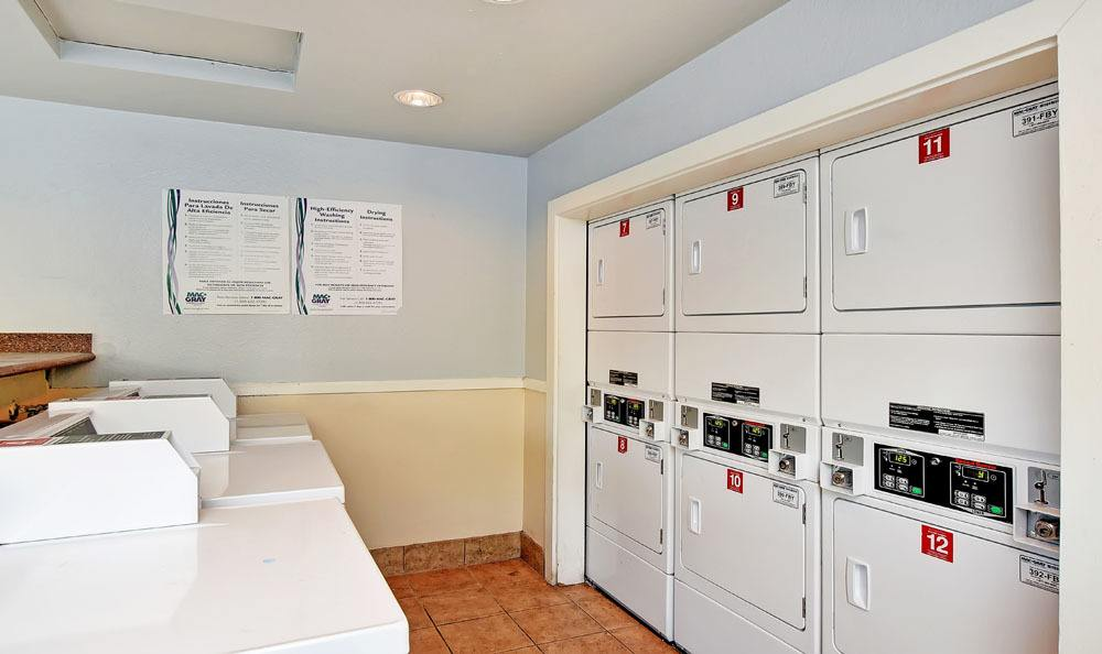 Laundry facility at Copperstone Apartment Homes in Everett, Washington