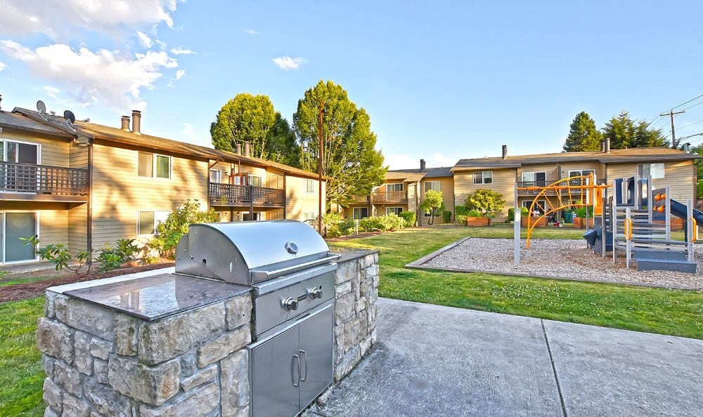 A bbq area that is great for entertaining at apartments in Everett, Washington