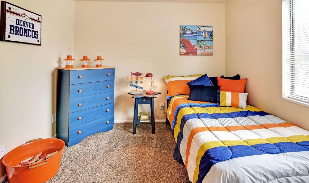 Beautiful kid bedroom at apartments in Layton, Utah