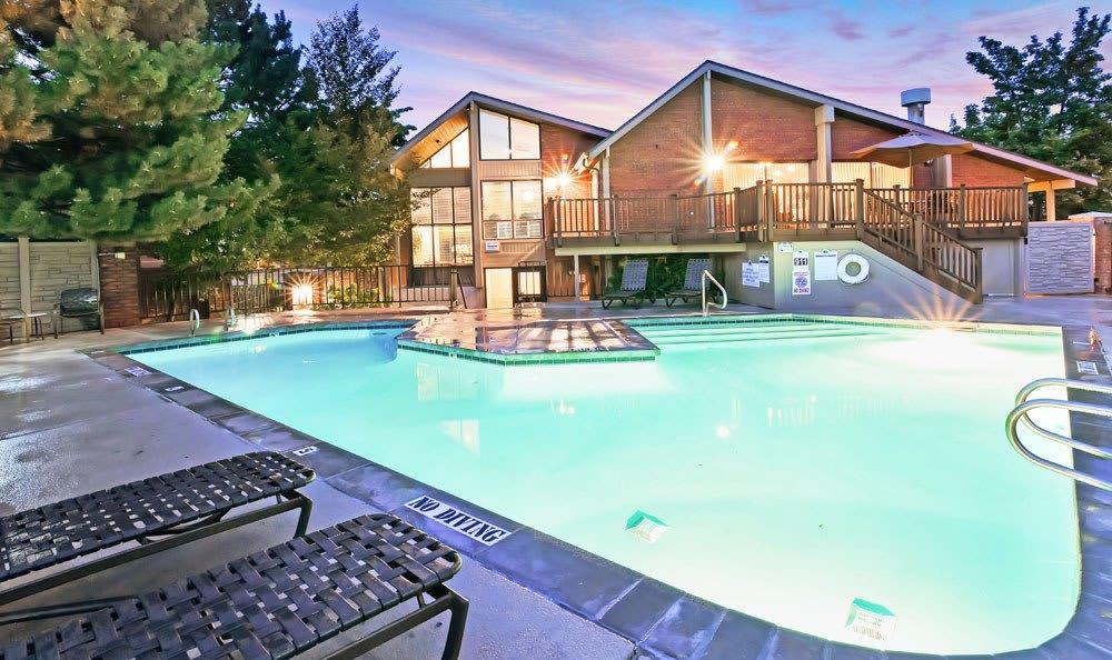 Swimming Pool At Fox Creek Apartments In Layton UT