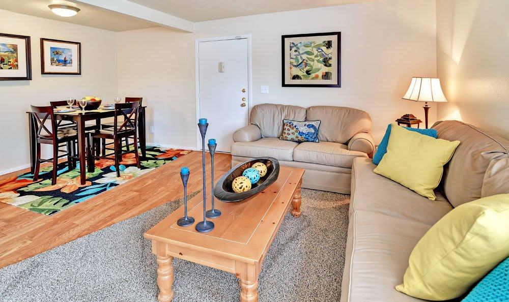 Living room at Fox Creek Apartments in Layton, UT