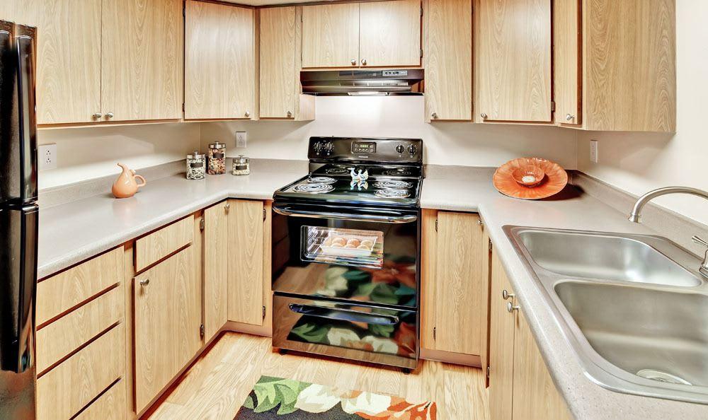Kitchen At Fox Creek Apartments In Layton UT