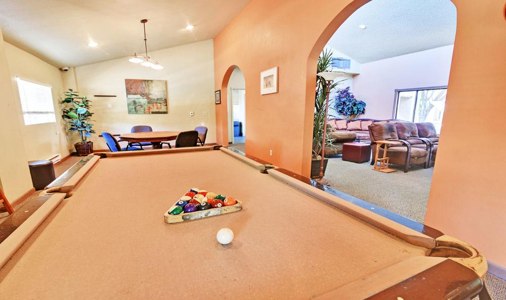 Pool Table Room At Overlook at Sunset Point In Layton UT