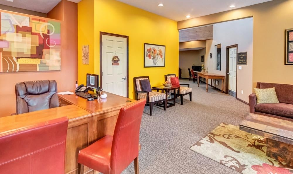 Interior of leasing office at Seasons at Pebble Creek in Salt Lake City, UT