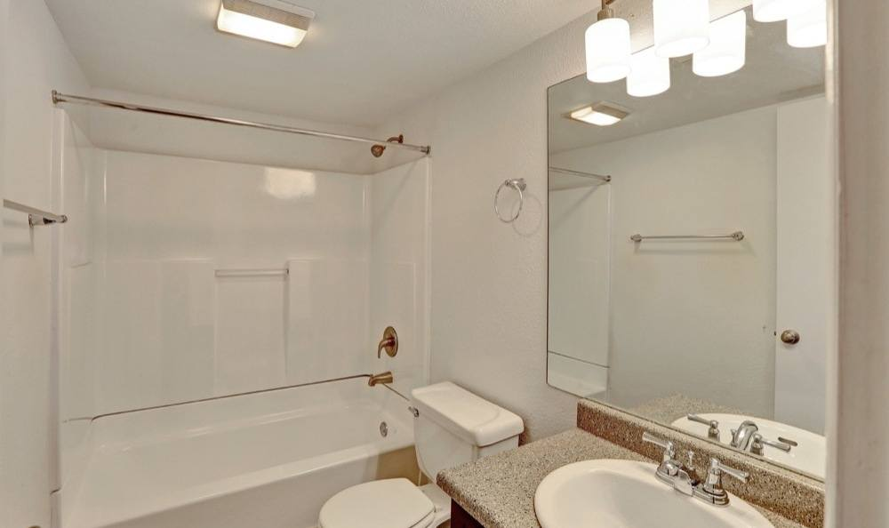 Beautiful bathroom at apartments in Salt Lake City, Utah
