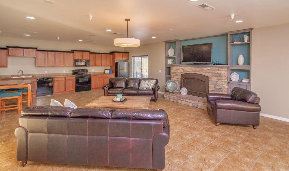 Clubhouse Living Room At Selway Apartments In Meridian ID