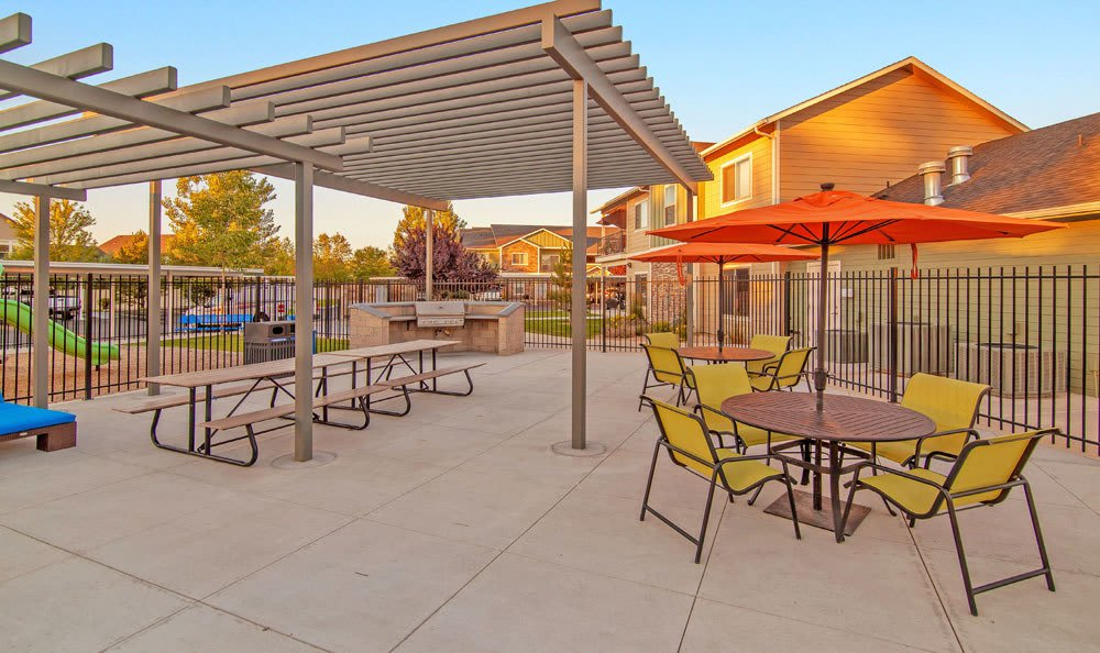 A bbq area that is great for entertaining at Selway Apartments in Meridian, Idaho