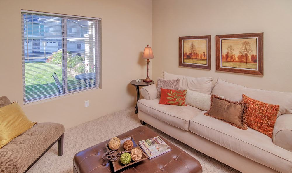 Beautiful living room at apartments in Meridian, Idaho