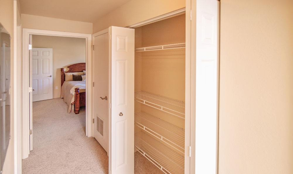 Hall  to the rooms at Selway Apartments in Meridian, Idaho