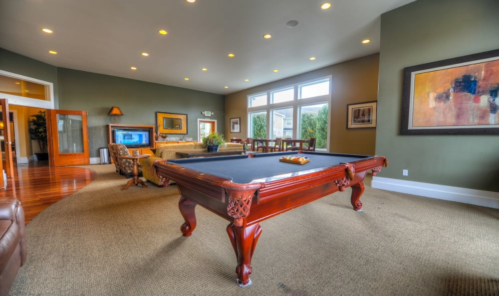 Pool Table and play Room At Sierra Sun In Puyallup WA