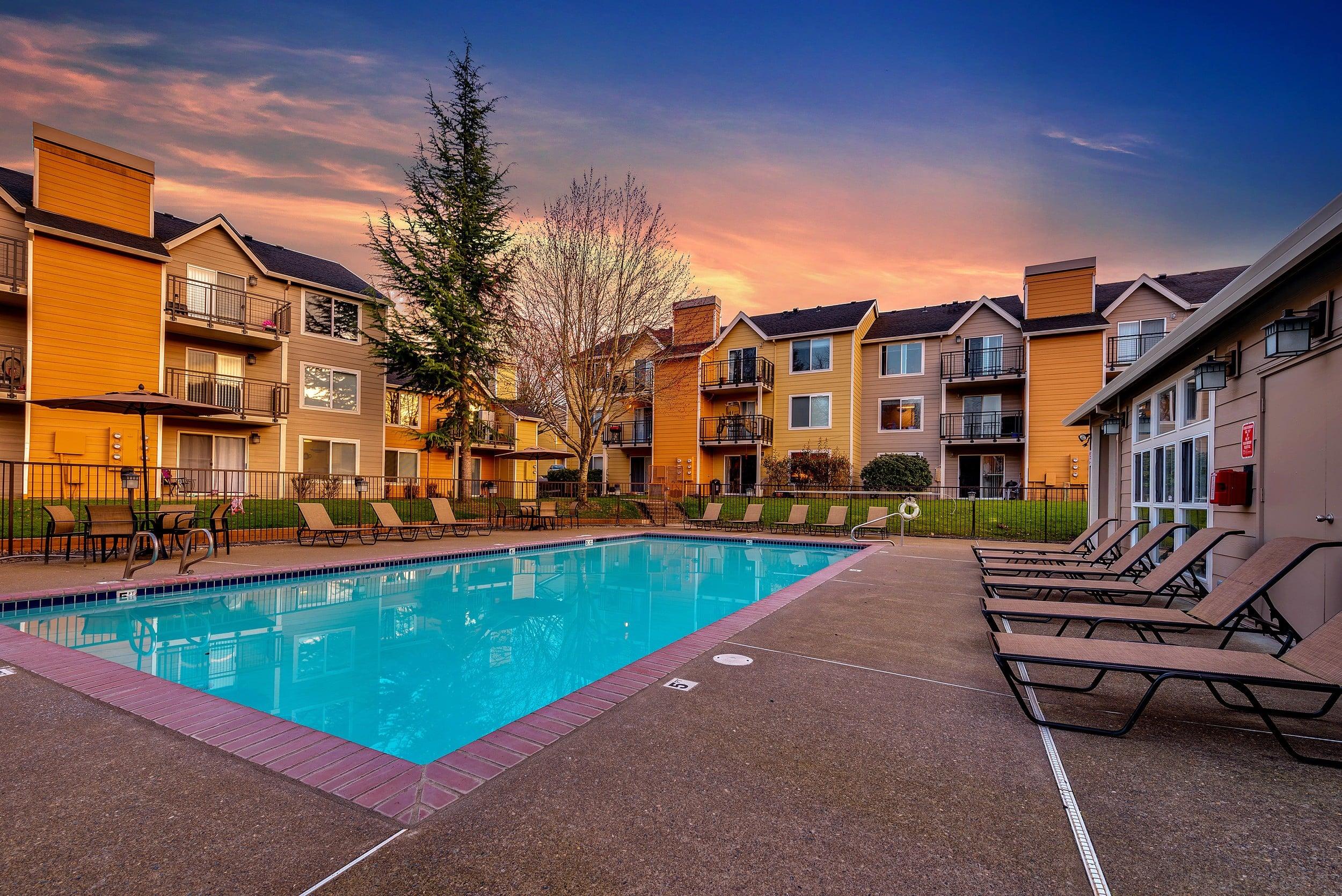 Swimming Pool At Preserve at Sunnyside Apartments In Clackamas OR
