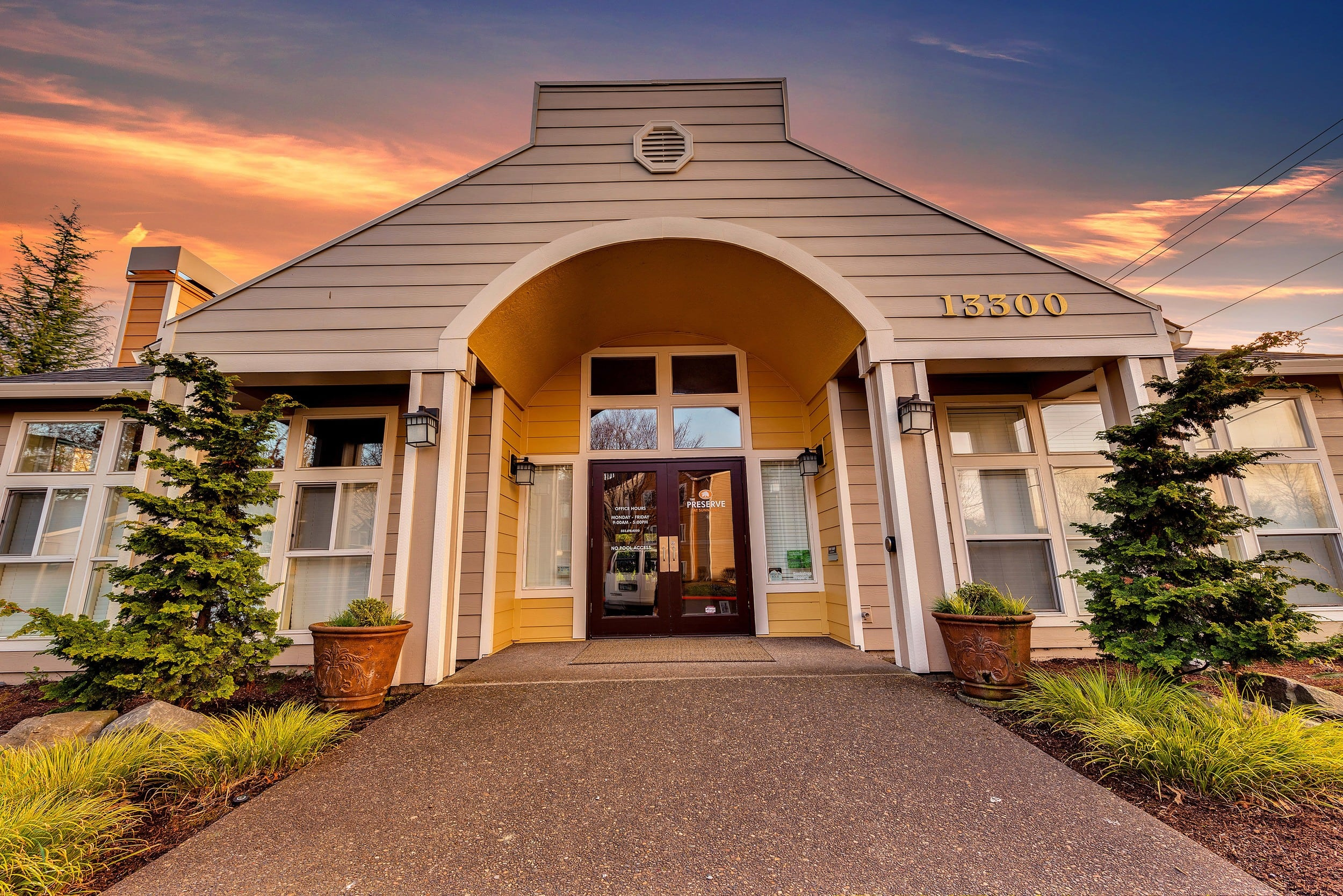 Exterio Apartments Entry At Preserve at Sunnyside Apartments In Clackamas OR