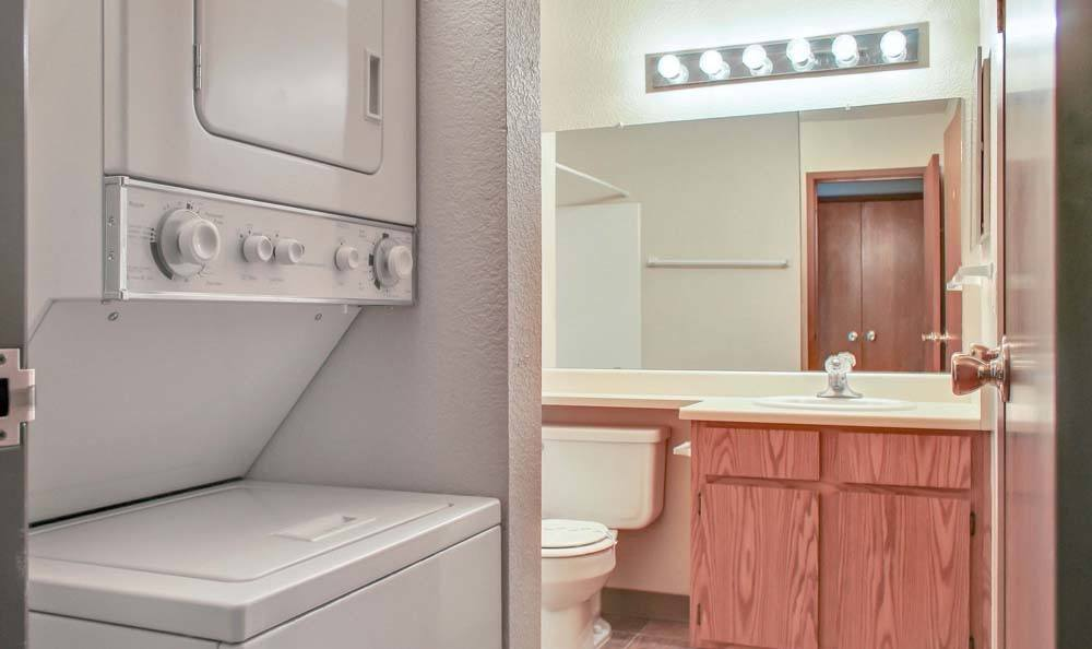 Enjoy apartments with a laundry facility at The Lodge at McCarran Ranch Apartment Homes