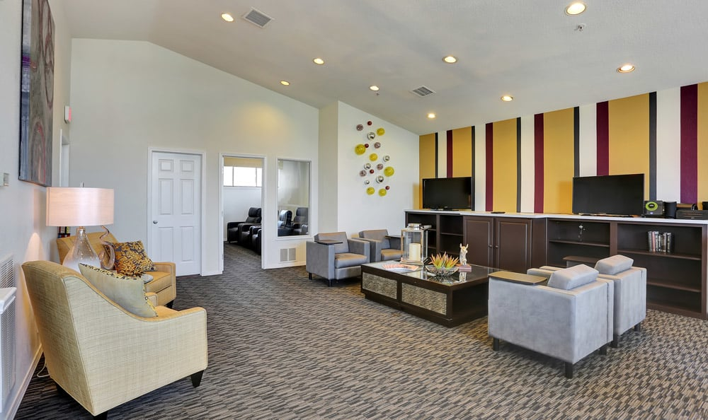 Clubhouse Living Room At The Pavilions at Silver Sage In Fort Collins CO