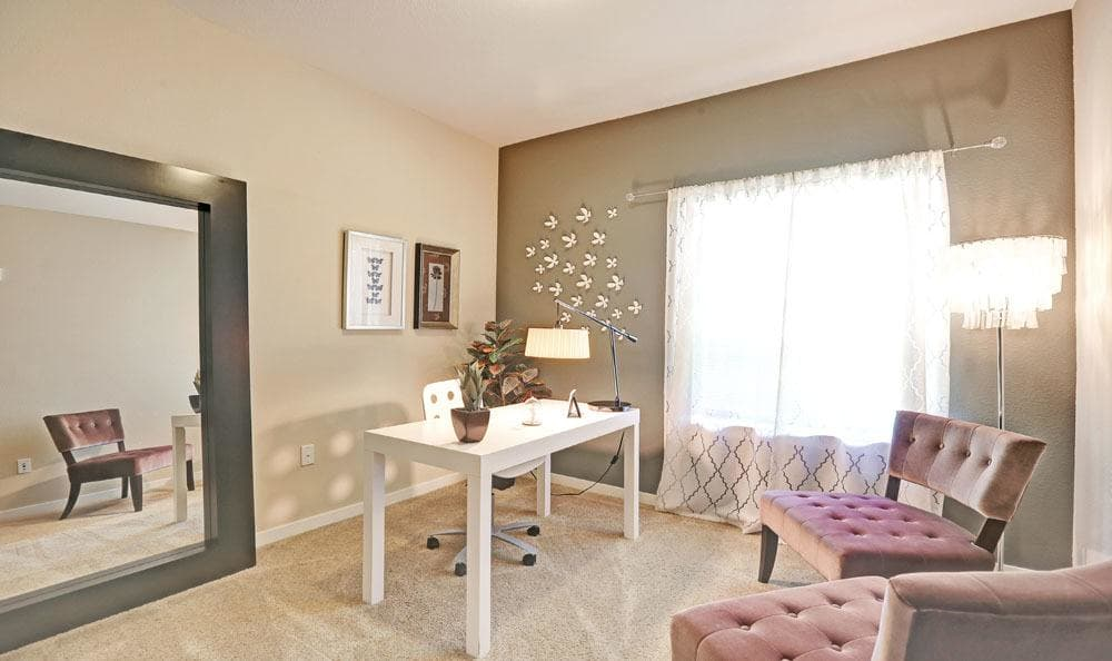 Office room at Downtown Belmar Apartments in Lakewood, Colorado