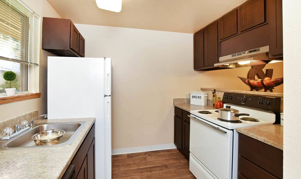 Kitchen at The Park at Cooper Point Apartments in Olympia, Washington