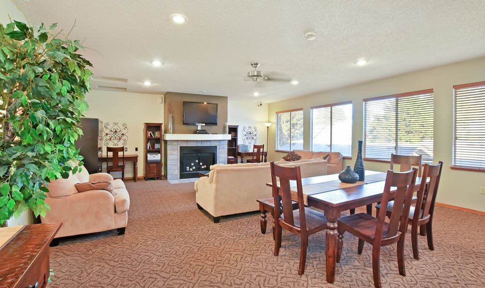 Spacious Dinning and Living room at The Park at Cooper Point Apartments in Olympia, Washington