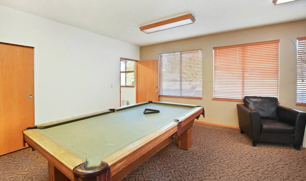Pool Room At The Park at Cooper Point Apartments In Olympia WA