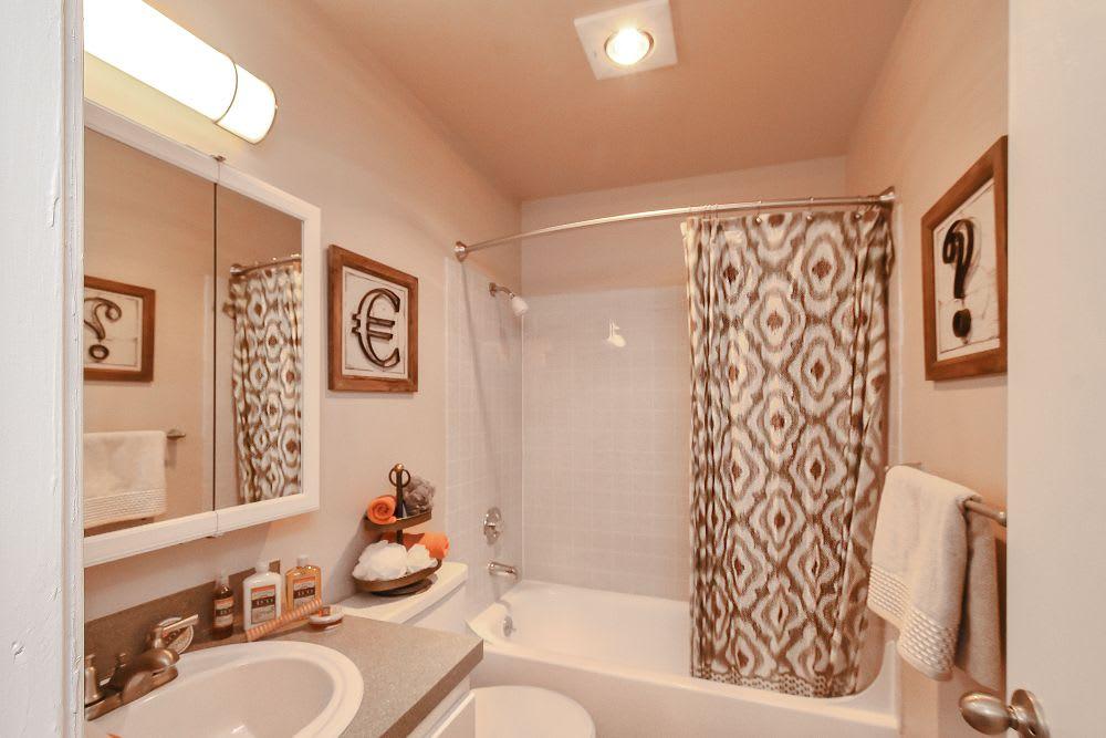 Bathroom at Lakeside Landing Apartments