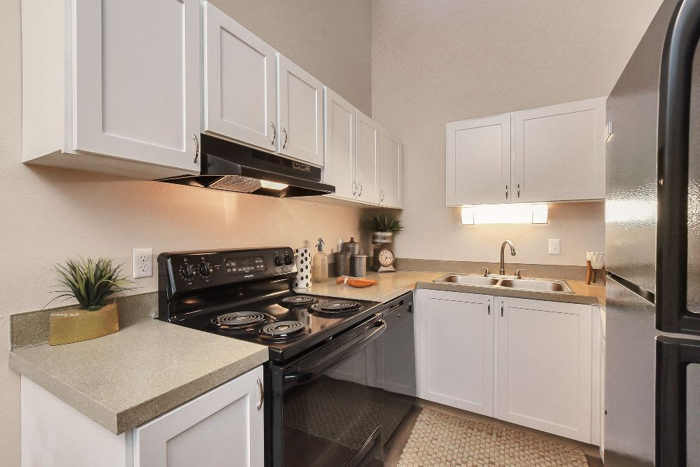 Kitchen at Lakeside Landing Apartments