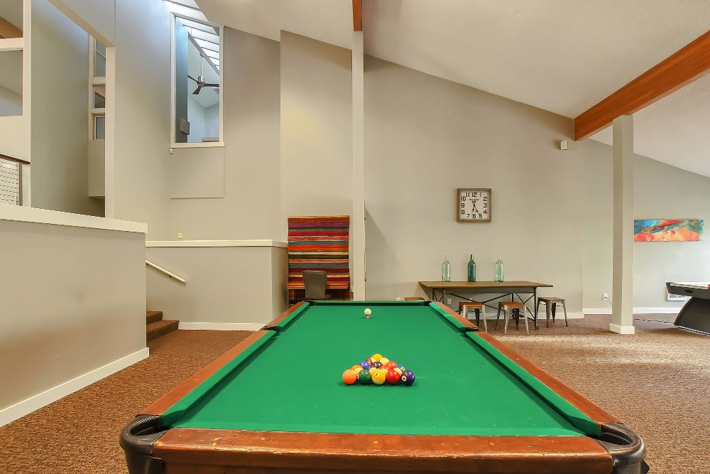 Pool table at Lakeside Landing Apartments