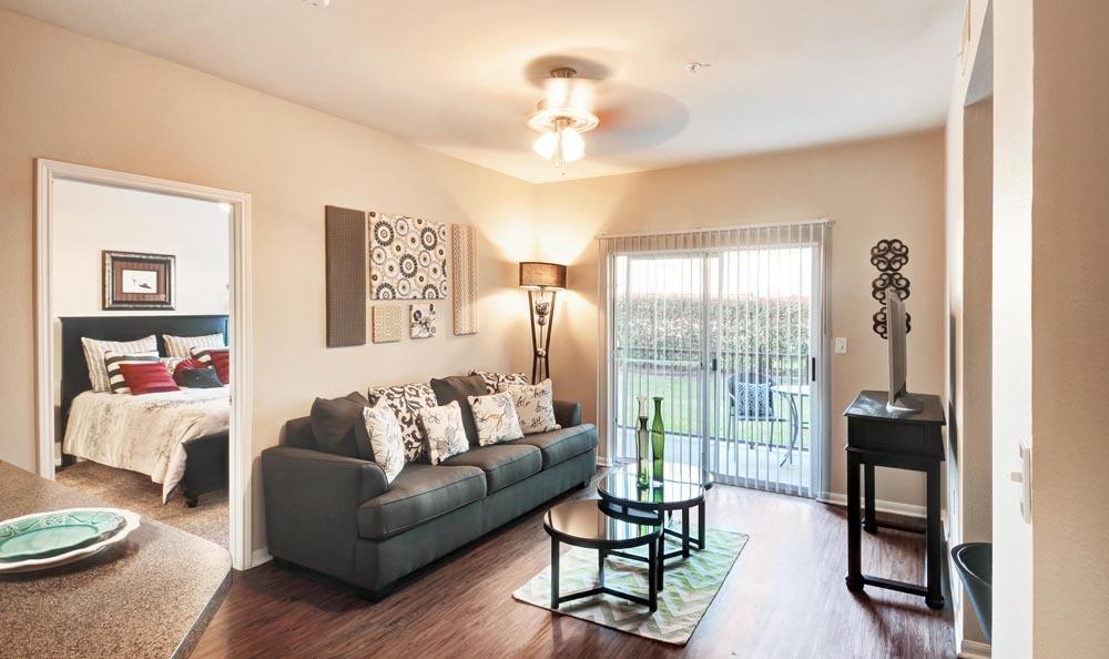 Beautiful living room at Salado Springs Apartments in San Antonio, Texas
