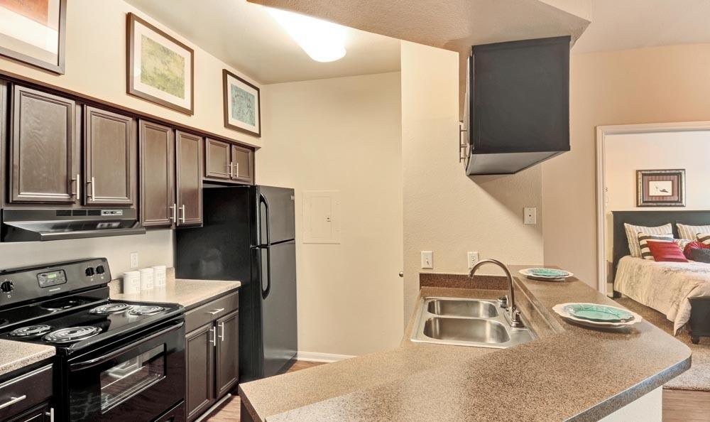 Kitchen at Salado Springs Apartments in San Antonio, Texas