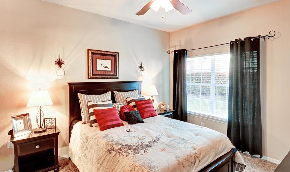 Beautiful bedroom at apartments in San Antonio, Texas