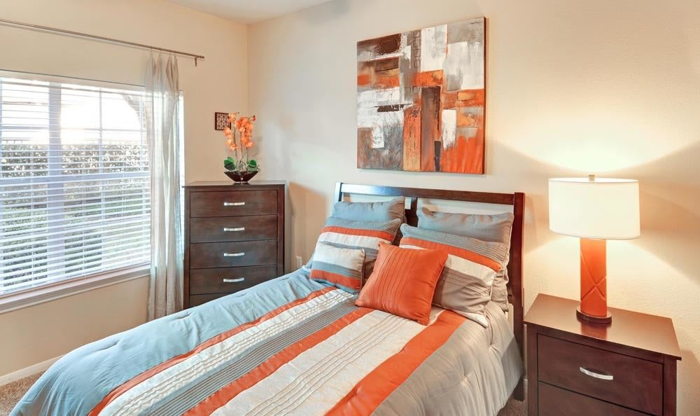 Salado Springs Apartments offers a beautiful bedroom in San Antonio, Texas