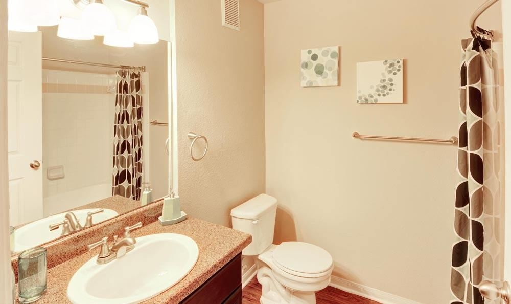 Salado Springs Apartments offers a beautiful bathroom in San Antonio, Texas